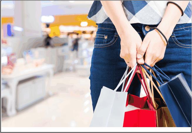 Mulher com sacolas nas mãos, Como vender
